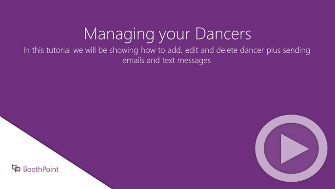 Managing your Dancers