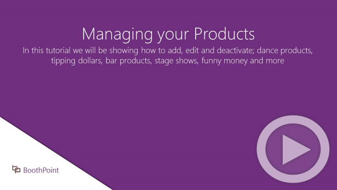 Managing your Products